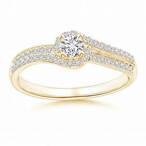 bypass round diamond swirl halo engagement ring angara With wedding rings pay installments