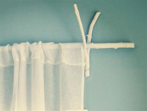 twig curtain rod with sheer curtains from west elm
