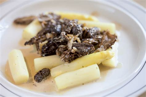 cuisiner asperges fraiches recettes morilles fraiches