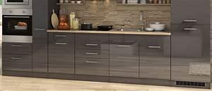 Küchenzeile 360 Cm : k chenzeile m nchen vario 4 k che mit e ger ten breite 360 cm hochglanz grau graphit ~ Indierocktalk.com Haus und Dekorationen