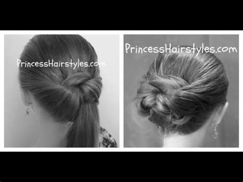 side puff  trick  ponytail hairstyle easy