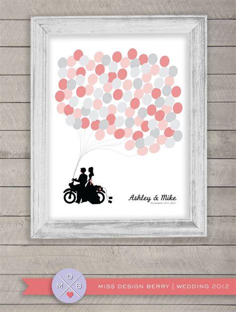 wedding guest book alternative balloons  motorcycle