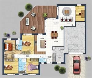 Plan De Construction Maison : constructeur maison contemporaine bouguenais loire ~ Premium-room.com Idées de Décoration