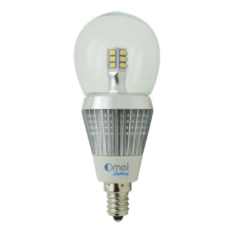 e12 led globe bulb 5w 50 watt candelabra base daylight