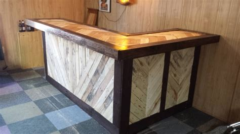recycled wood pallet bar ideas pallet ideas