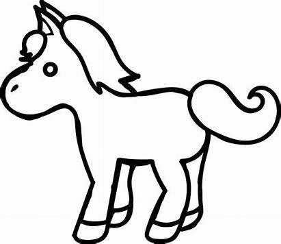 Coloring Kuda Cartoon Sketsa Gambar Horse Pony
