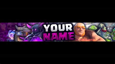 clash royale banner template  youtube