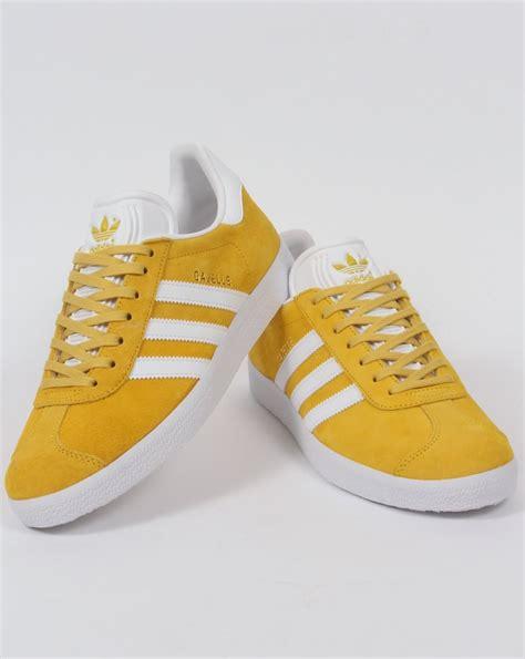 Adidas Gazelle Trainers Yellow White,Originals,Classics at ...