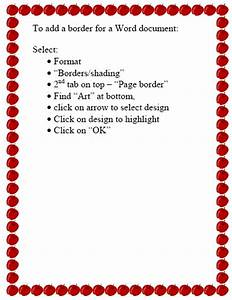 Creating borders in a word document – Mr. Wasil's Media ...