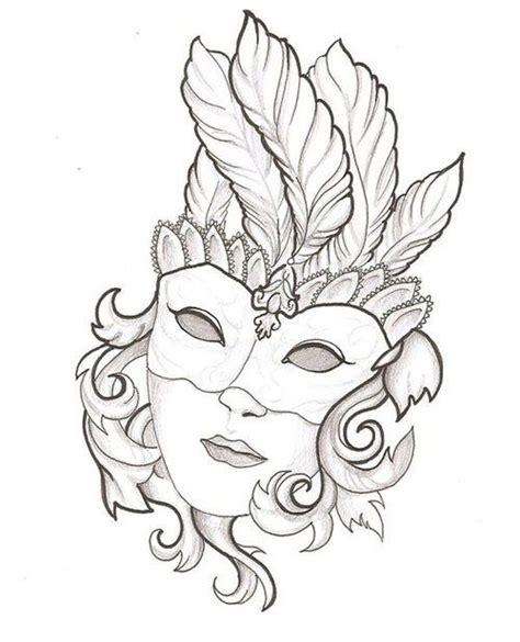 maszk sablon zeichnen venezianische masken masken