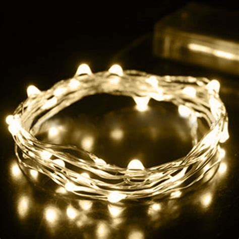 led battery string lights 2 3 5m silver wire led mini string lights outdoor 4