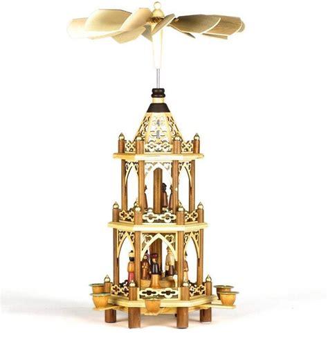 cousin eddies  tier wooden christmas pyramid carousel