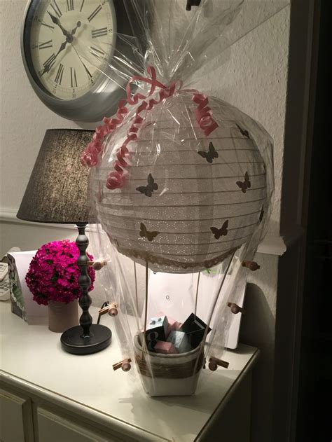 die besten  gutschein basteln heissluftballon ideen auf