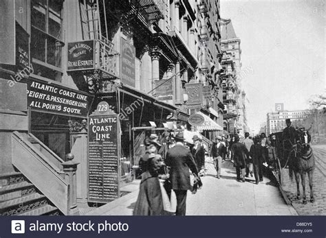 New York Broadway 1895 Stock Photo