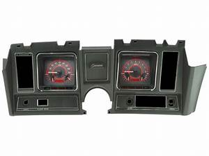 1969 Camaro Dakota Digital Vhx Instrument System  Carbon Fiber Faces  Red Numbers