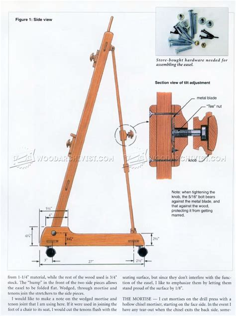 easel woodworking plans woodworking projects