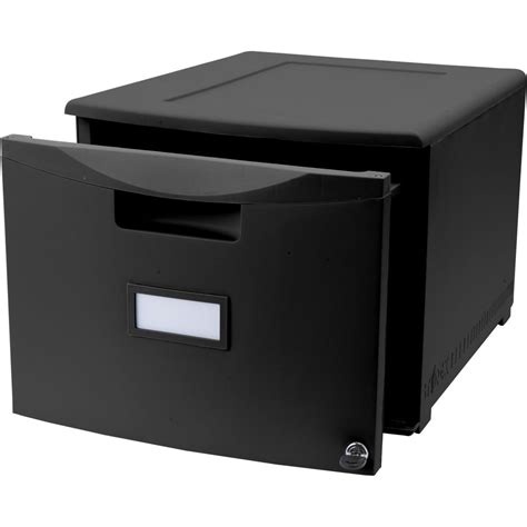 1 drawer file cabinet with lock small black filing cabinet for office file management