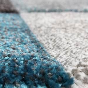 Teppich Türkis Grau : designer teppich modern handgearbeiteter konturenschnitt ~ Lateststills.com Haus und Dekorationen