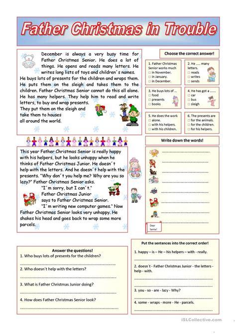 worksheet christmas reading worksheets worksheet fun