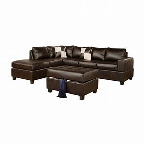 poundex furniture f735 bobkona three piece soft touch With 3 pieces sectional sofa set