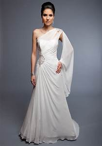 one shoulder gown dressed up girl With one sleeve wedding dress