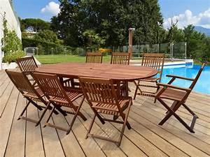 Mobilier Jardin Bois : salon de jardin en bois exotique taipei bali 1 table ~ Premium-room.com Idées de Décoration