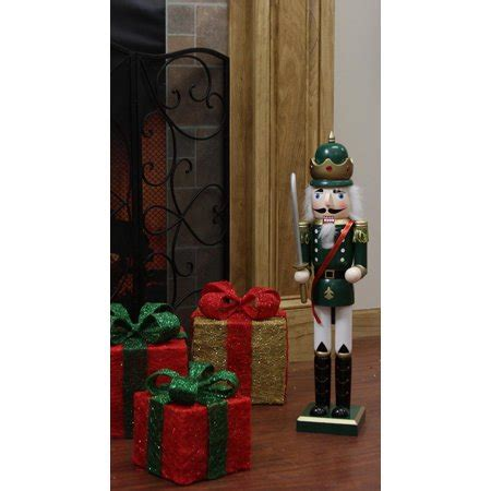 decorative nutcrackers for christmas 24 quot decorative green king wooden nutcracker with