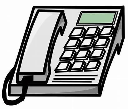 Telephone Office Cartoon Clipart Cliparts Clip Computer