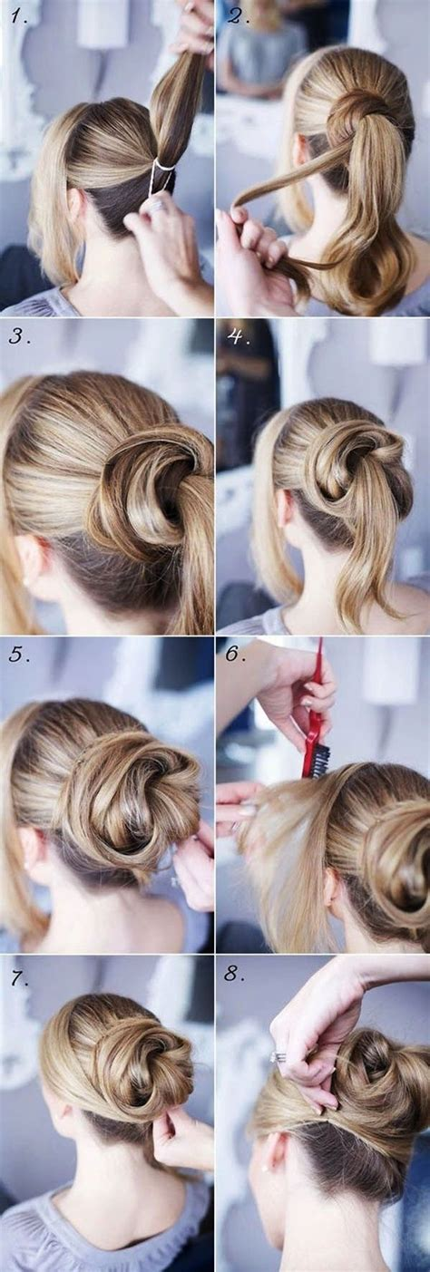 Step By Step Hairstyles For by 15 Easy Step By Step Hairstyles For Hair Android