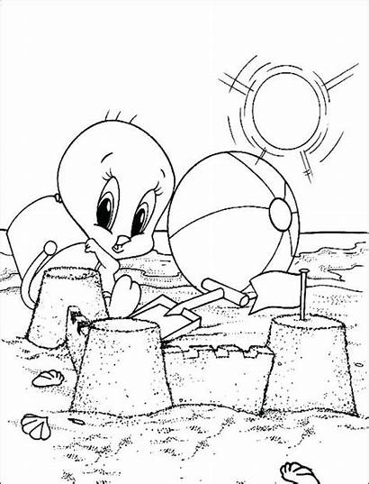 Coloring Pages Looney Cartoon Characters Christmas Toons