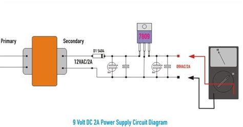Diagram For Wiring An Schematic Powering Switch by Schematic 9 Volt Dc 2a Power Supply Wiring Diagram Schematic