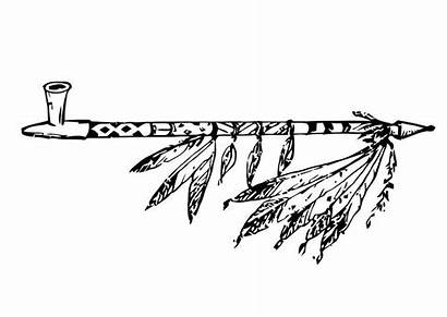 Pipe Peace Coloring Clipart Native American Pages