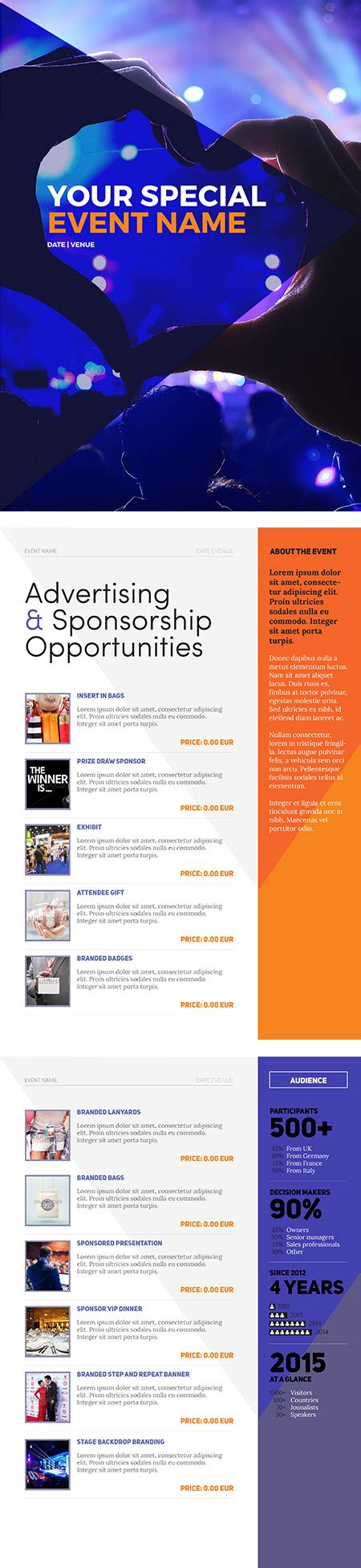 Marketing Package Template by Sponsorship Package Template Event Management Tips