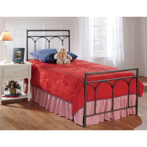 Twin Spindle Bed by Hillsdale Mckenzie Twin Spindle Bed In Brown Steel 1092btw