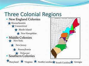 Colonial Regions: Geography influences colonial ...