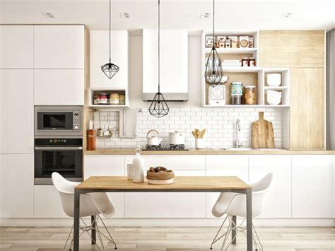 cuisine scandinave design déco cuisine blanche scandinave de rêve