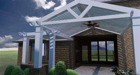 arcadia louvered roof installed units traditional