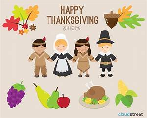 buy 2 get 1 free Happy Thanksgiving Clip Art for by ...