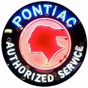 Pontiac Authorized Service Neon Sign