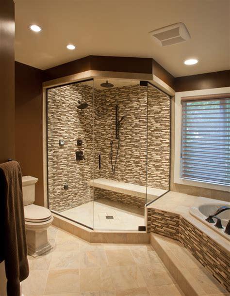 interior design ideas bathroom ceramic glass tile shower contemporary bathroom
