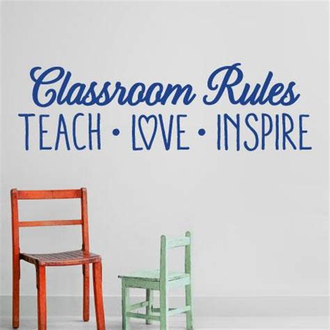 classroom rules wall quotes decal wallquotescom