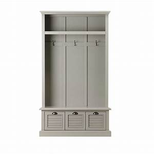 Home Decorators Collection Shutter Grey Hall Tree