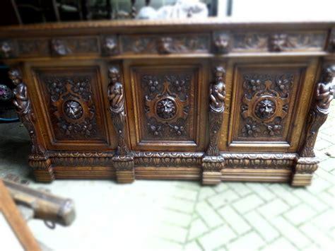 Carved Oak Sideboard by Antique Carved Oak Sideboard Caryatids Lions