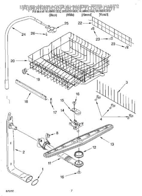 Parts For Whirlpool Guscgt Upper Dishrack Water