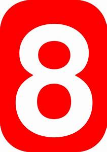 Number Eight In Red Clip Art at Clker.com - vector clip ...