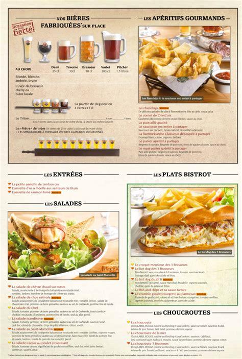 cuisine centrale montpellier menu les 3 brasseurs menu restaurant à montpellier
