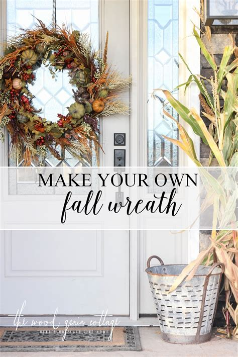 make your own fall wreath diy fall wreath the wood grain cottage