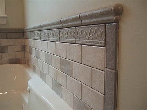 bath wall tile designs with porcelain material half bath