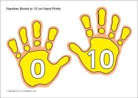number bonds    hand prints sb sparklebox