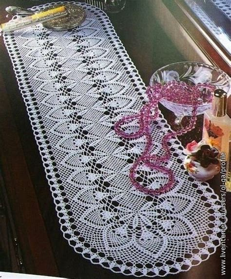free crochet pineapple table runner patterns crochet pineapple table runner